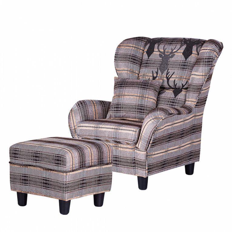 ohrenbackensessel mit hocker landhausstil haus design ideen. Black Bedroom Furniture Sets. Home Design Ideas