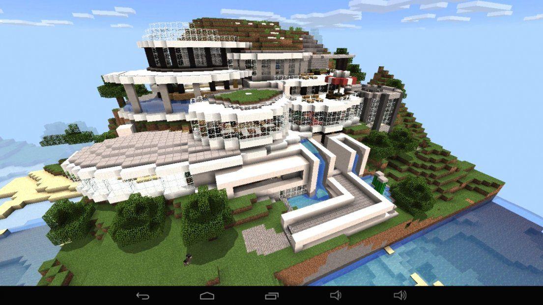 Großes Abstraktes Haus Am Berg In Minecraft Bauen Minecraft Avec von Minecraft Villa Bauen Anleitung Bild