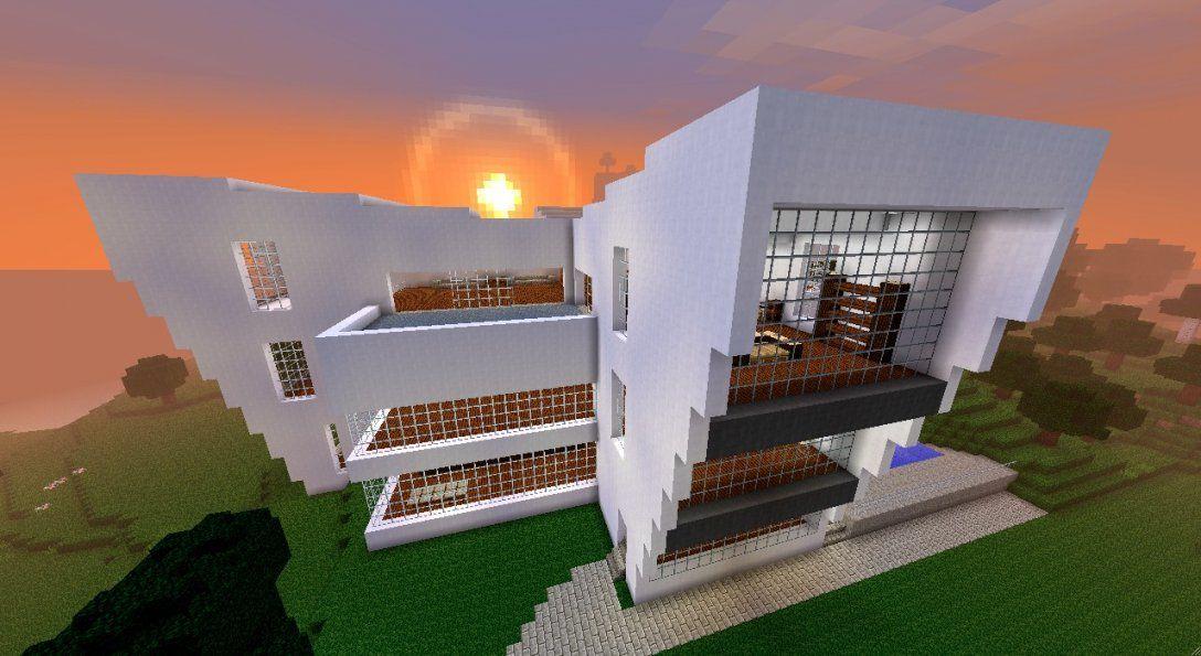 Großes Modernes Haus Minecraft Project von Minecraft Modernes Haus Download Bild