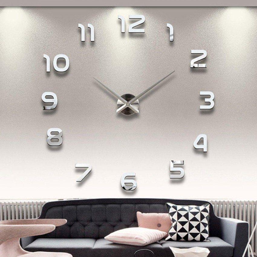 Großhandel Modernes Design Home Decor 3D Diy Spiegel Große Uhren Mit von Digitale Uhren Fürs Wohnzimmer Photo