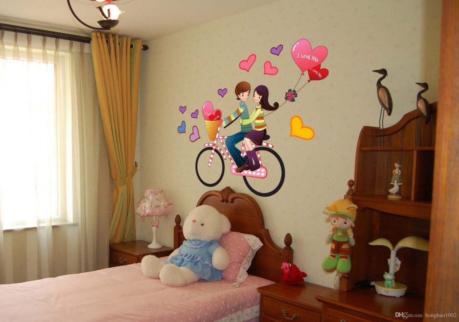 Großhandel Wand Aufkleber Romantische Paar Fahrrad Reise Dekoration von Aufkleber Für Die Wand Bild