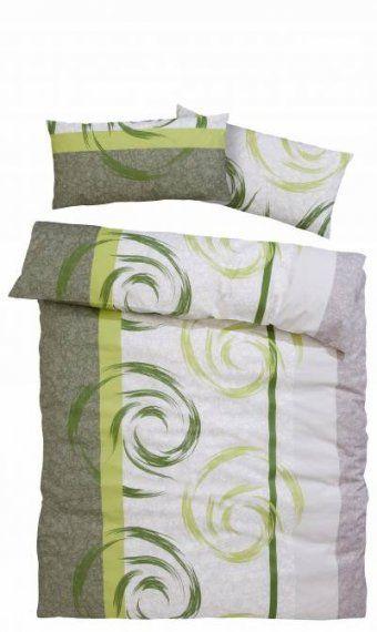 Grün  Biberbettwäsche Und Weitere Bettwäsche Günstig Online von Flanell Bettwäsche 100X135 Bild