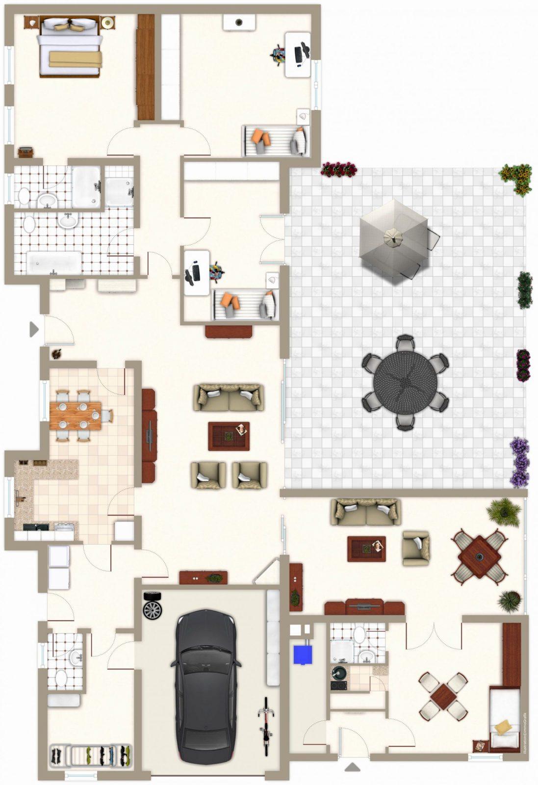 Grundriss Bungalow 120 Qm Mit Garage Luxus Grundriss Bungalow 5 von Grundriss Bungalow 120 Qm Mit Garage Bild