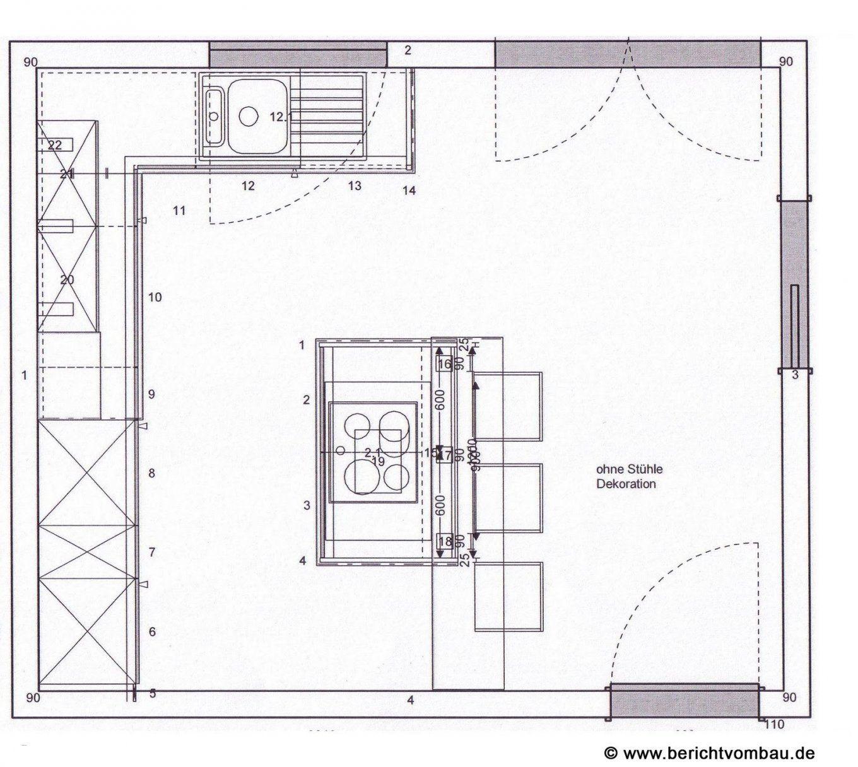 Grundriss Küche Mit Kochinsel Brillant Küche Mit Insel Günstig von Grundriss Küche Mit Kochinsel Bild