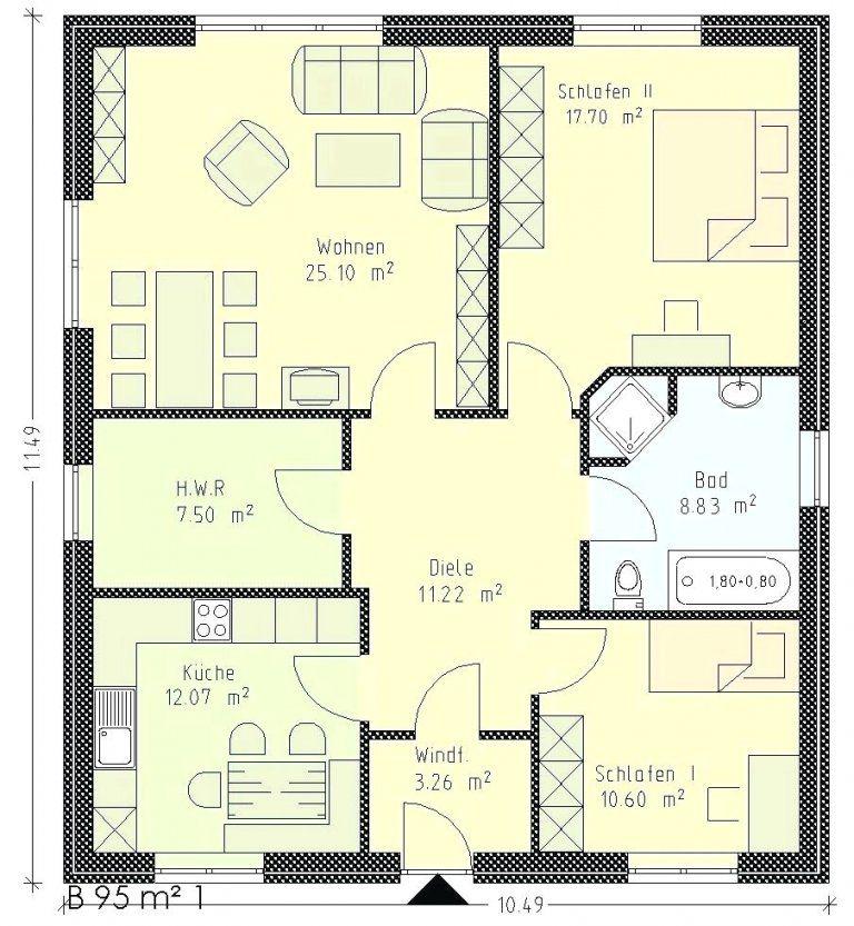 Grundrisse Bungalow 5 Zimmer Mit Grundriss Garage Integrierter 11 von Bungalow Grundriss 5 Zimmer Bild