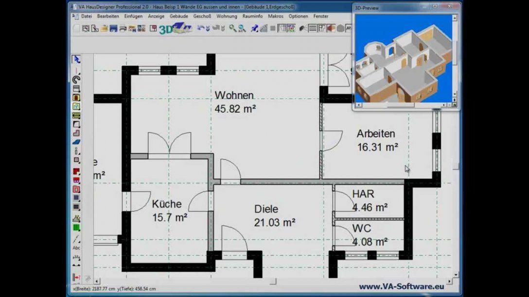 Grundrisse Erstellen & Zeichnen Mit Va Hausdesigner Professional 2 von Minecraft Haus Bauplan Erstellen Bild