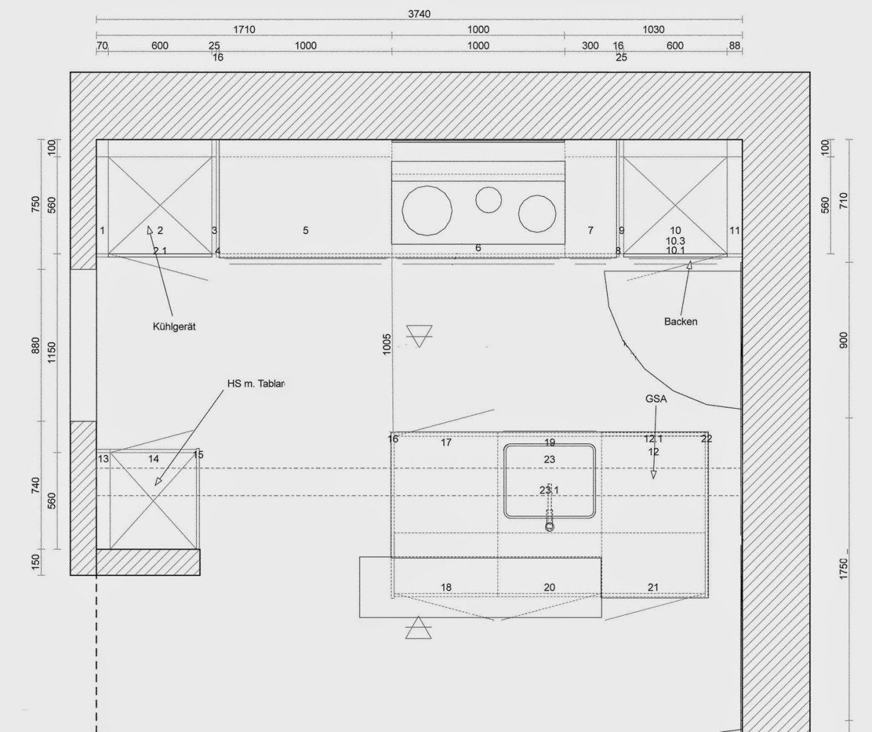 Gunstige Kuchenmobel Küche Mit Kochinsel Grundriss Schön Tolle Küche von Grundriss Küche Mit Kochinsel Photo