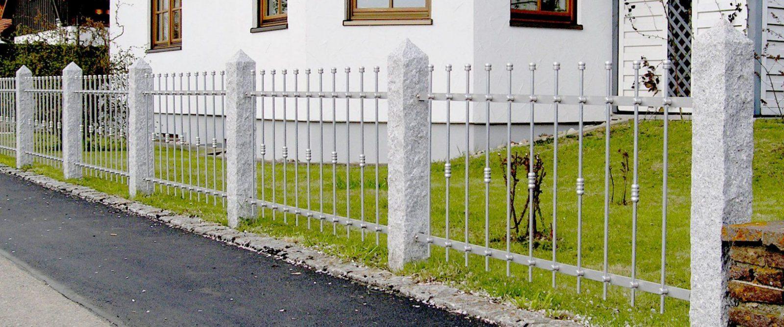 Günstige Metallzäune Aus Aluminium & Edelstahl von Schmiedeeisen Zaun Selber Bauen Photo