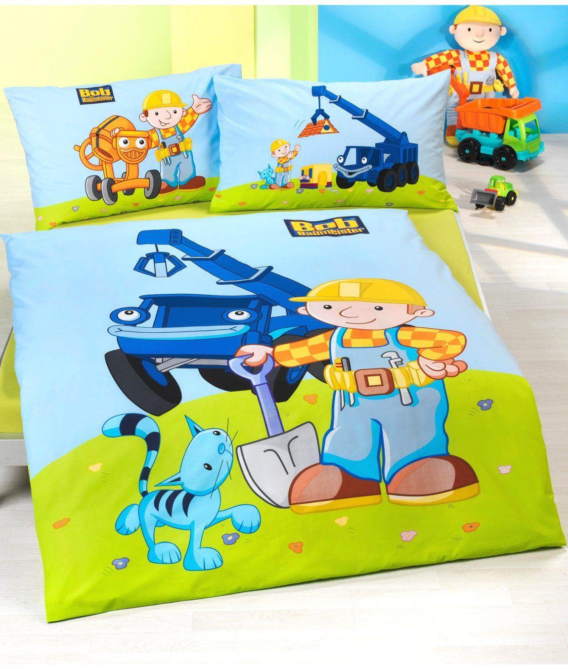Gute Inspiration Bob Der Baumeister Bettwäsche Und Fabelhafte Bettw von Bob Der Baumeister Bettwäsche 135X200 Bild