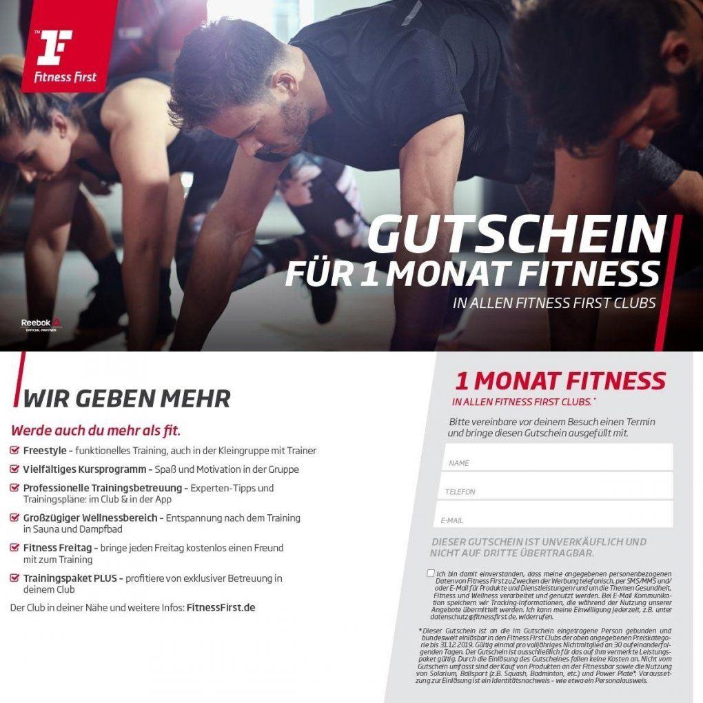 Gutschein Für 1 Monat Fitness First Inkl Trainingspaket  Fitness von Fitness First Regensburg Pfaffenstein Bild