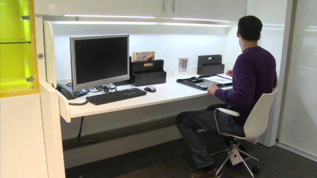 Häfele  Mit Tavoletto In Sekunden Vom Schreibtisch Zum Bett  Youtube von Schrankbett Mit Integriertem Schreibtisch Bild