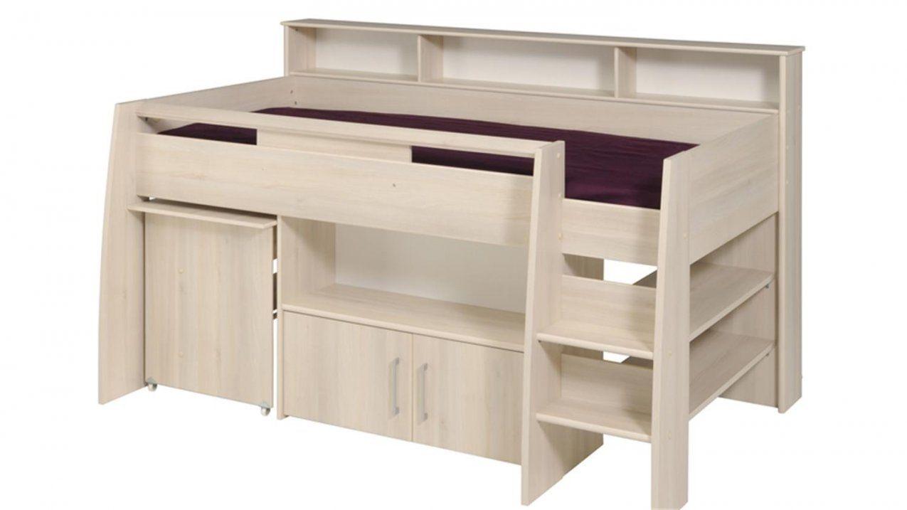 Halbhohes Bett Charly 2 Akazie Inkl Schreibtisch Kommode von Halbhohes Bett Mit Treppe Bild