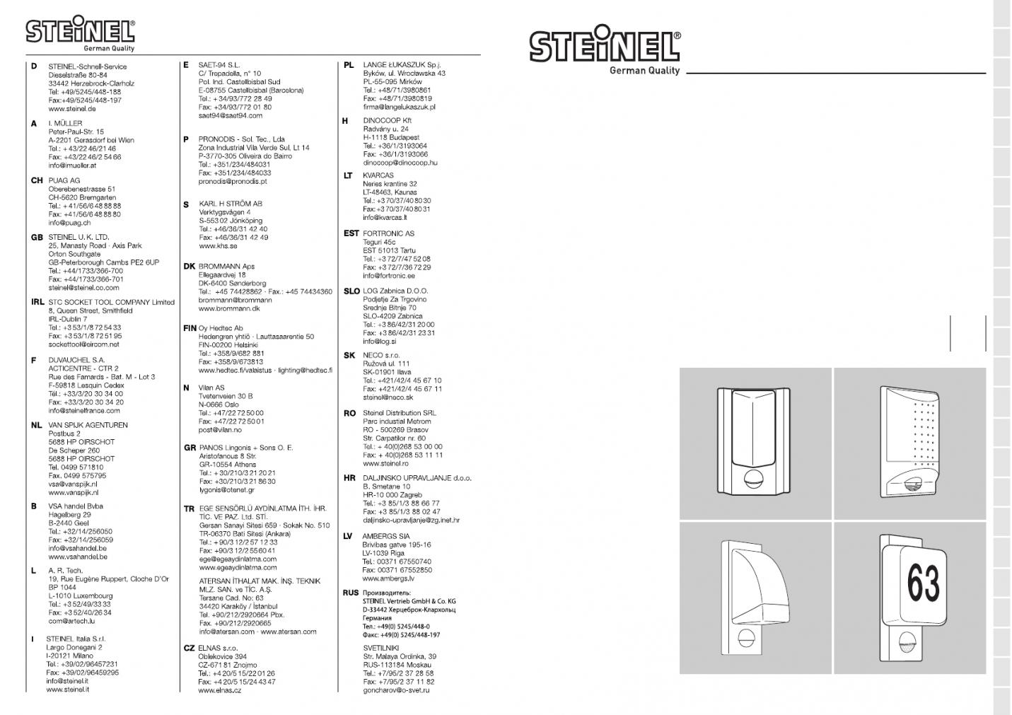 Handleiding Steinel L 860 S (Pagina 4 Van 50) (Alle Talen) von Steinel L 860 S Photo
