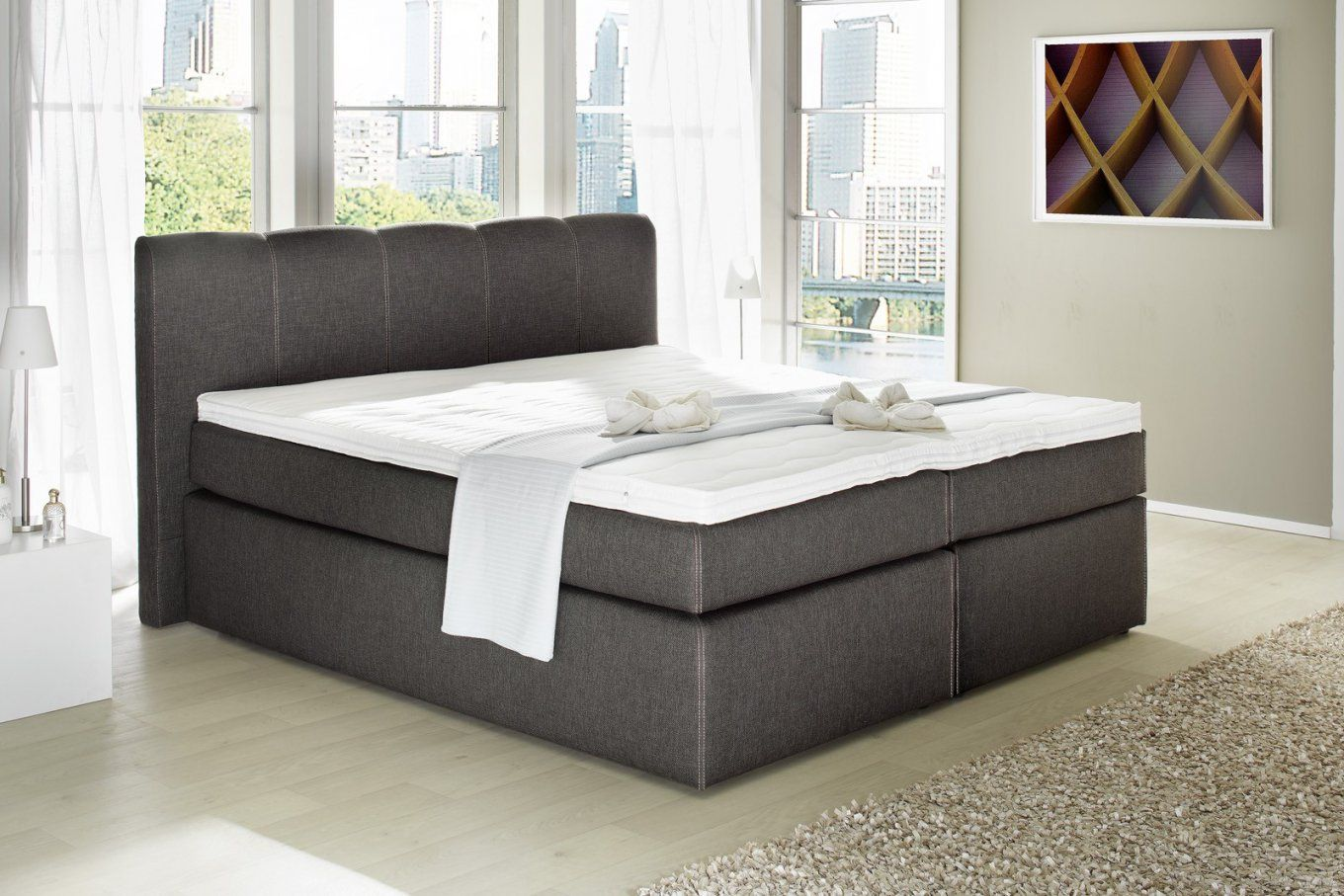 Harde Topper Boxspring Best Of Boxspring Bett Inkl Topper 180×200 von Boxspringbett Heaven Test Bild