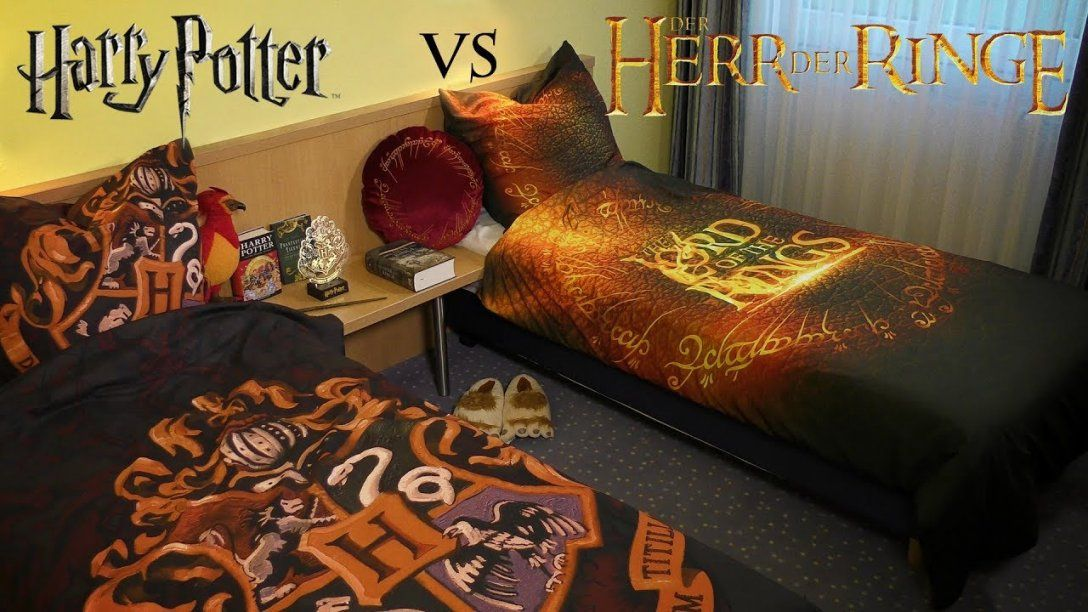 Harry Potter Vs Der Herr Der Ringe Epische Bettwäsche  Youtube von Bettwäsche Herr Der Ringe Bild