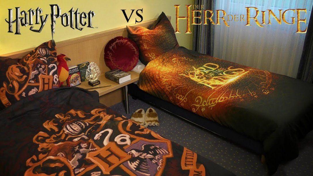 Harry Potter Vs Der Herr Der Ringe Epische Bettwäsche  Youtube von Herr Der Ringe Bettwäsche Bild