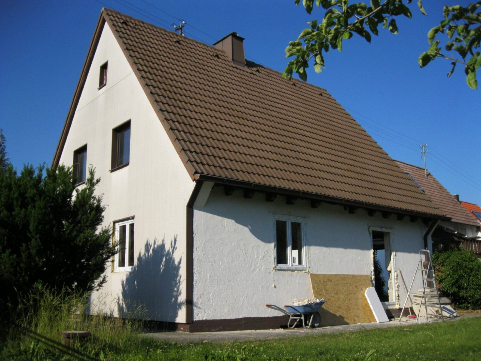 Haus Gartenseite Vorher  Nachher  Meinneueshaus von Altes Haus Renovieren Vorher Nachher Bild