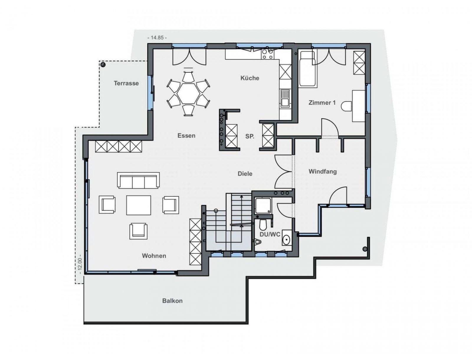 Haus Hanglage Grundriss – Wohndesign von Einfamilienhaus Am Hang Grundrisse Photo