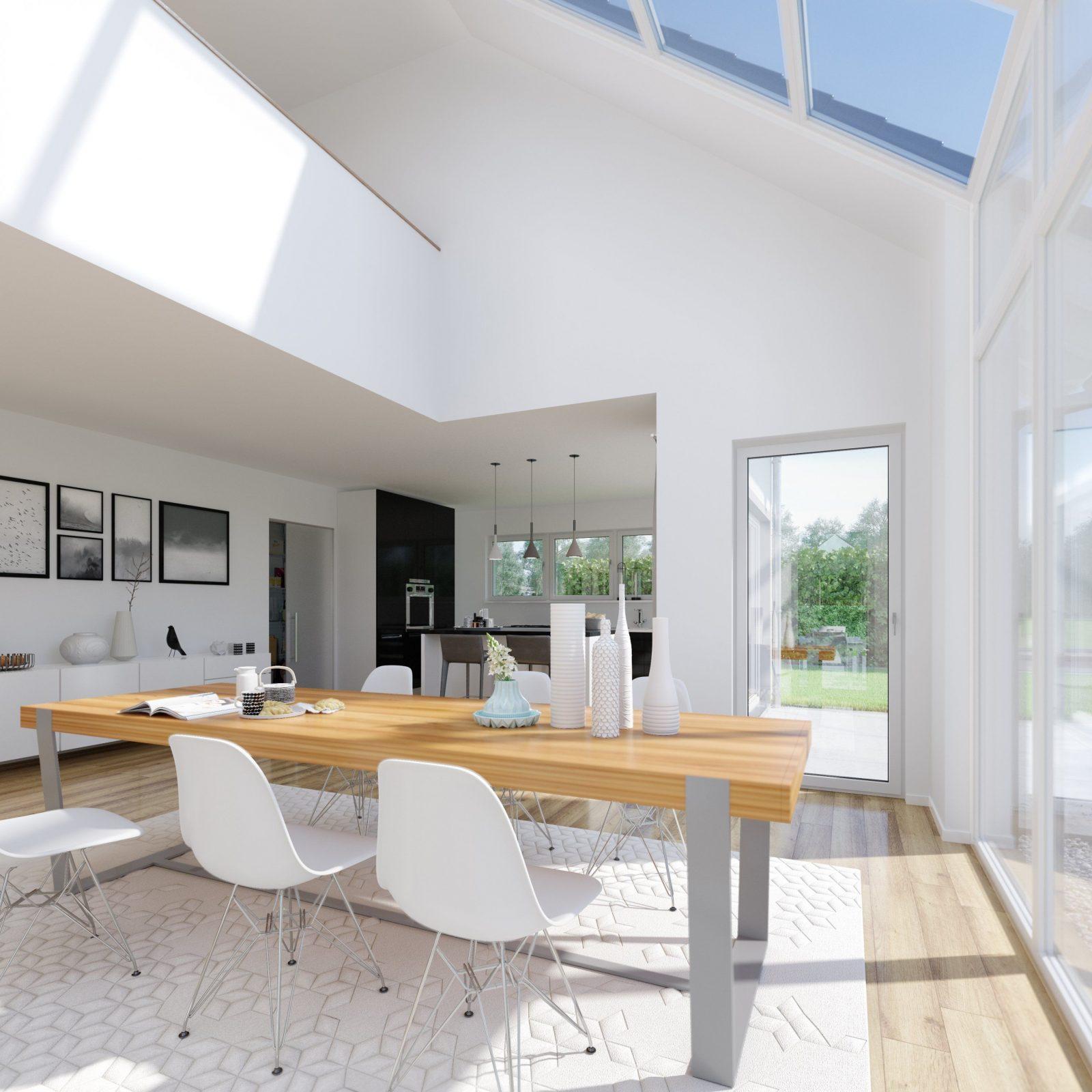 Haus Mit Galerie Im Wohnzimmer Interior Design Ideen Architektur