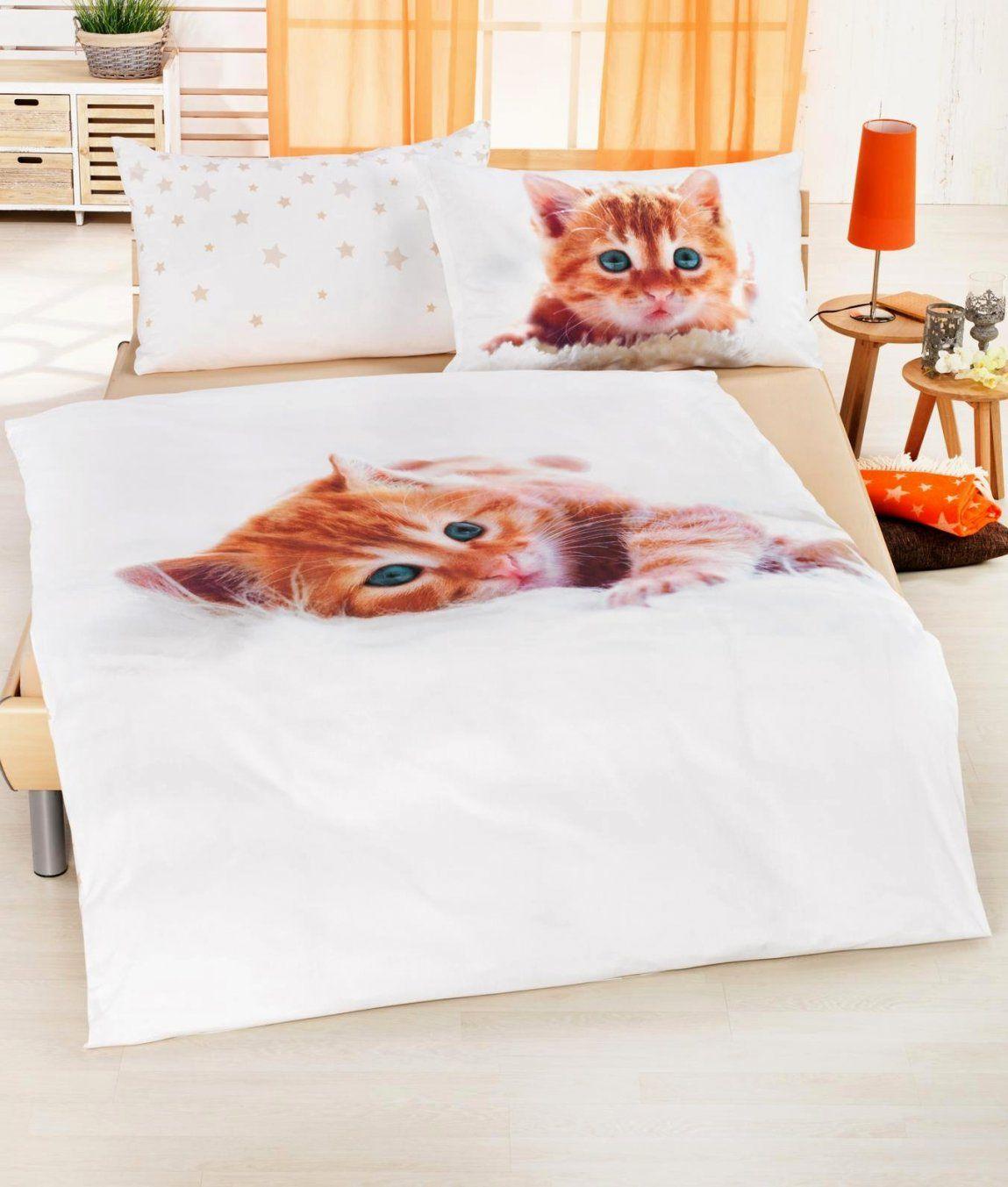 Hausdesign Bettwäsche Mit Katzenmotiv 04842 111 Dobnig Bettwaesche von Bettwäsche Katzenmotiv Fotodruck Photo