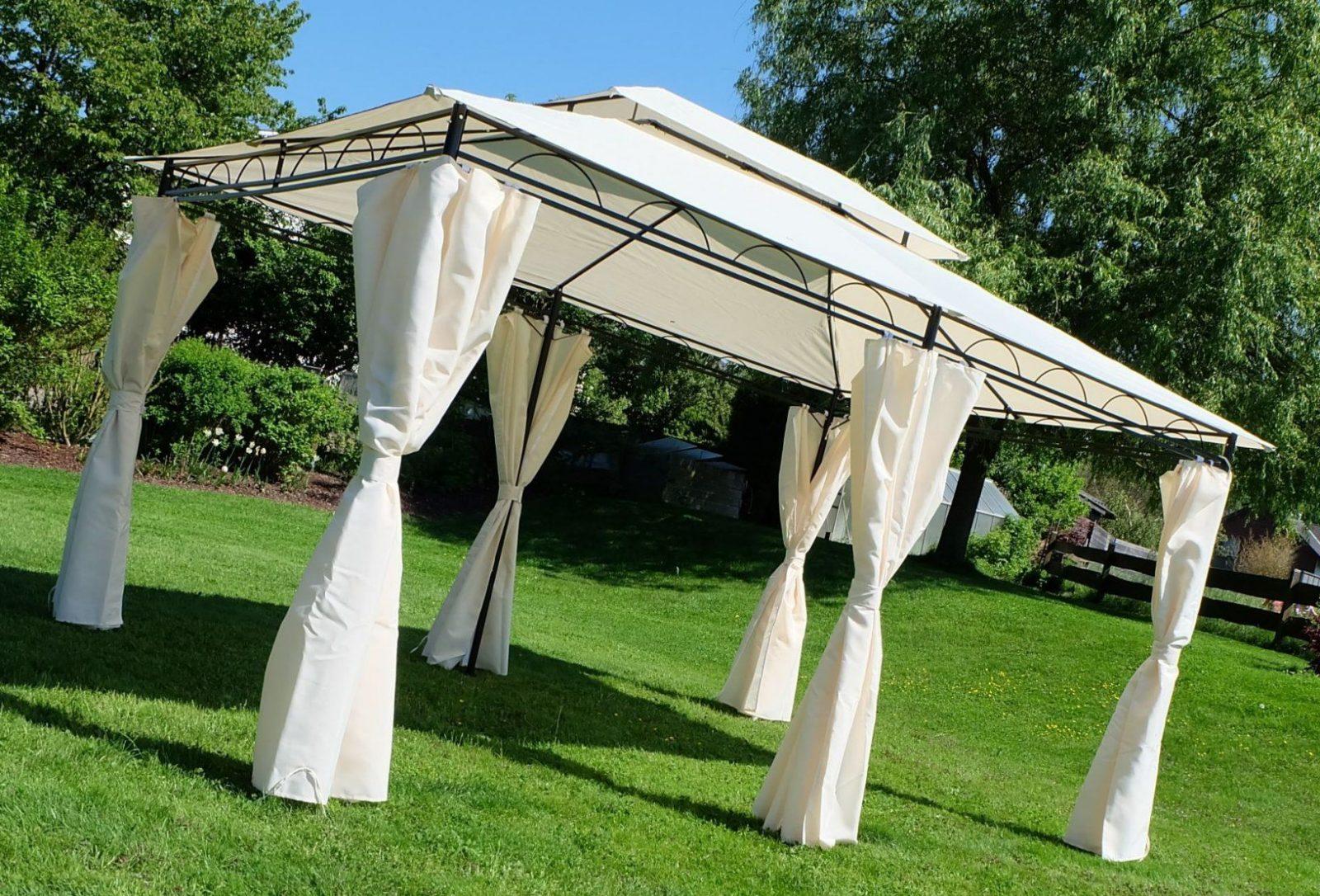 Hausdesign Pavillon 4X4 Meter Eleganter Gartenpavillon 3X4 Dach 100 von Ersatzdach Pavillon 4X4 Wasserdicht Bild