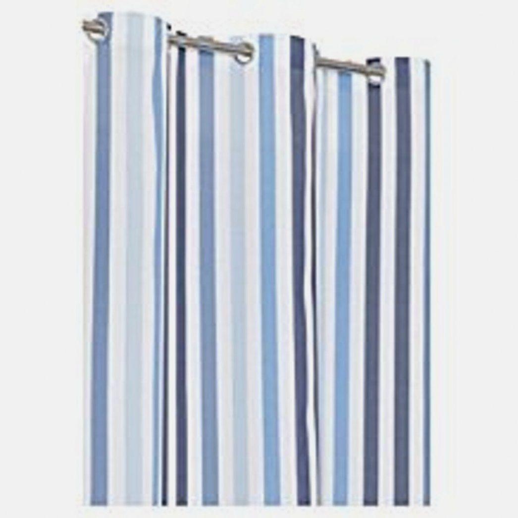 Hausdesign Vorhang Blau Weiß Gestreift Leinen Gardine Weiss Natur ...