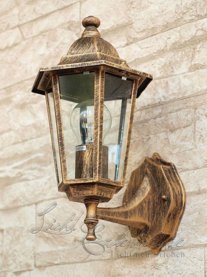 Hauswandleuchte Für Außen Velence Antik Stehend von Außenleuchte Mit Bewegungsmelder Antik Bild