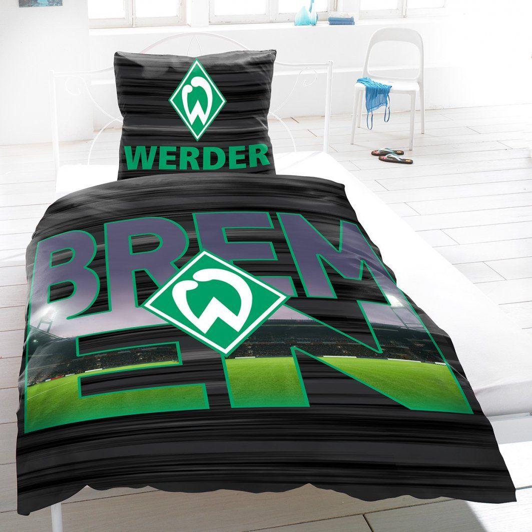 Heimtexprofis  Werder Bremen Baumwoll Bettwäsche 155X220 Cm 2 von Fussball Bettwäsche Biber Bild