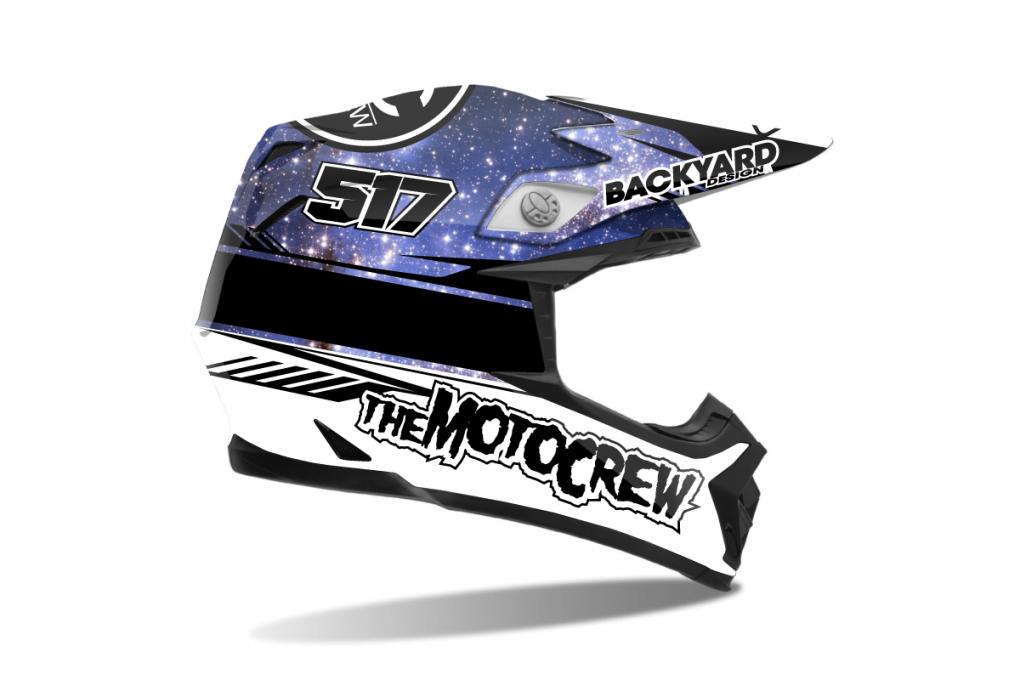 Helmet Wraps  Motocross Dekor Design Mx Graphics  Backyard Design von Helm Aufkleber Selber Gestalten Bild
