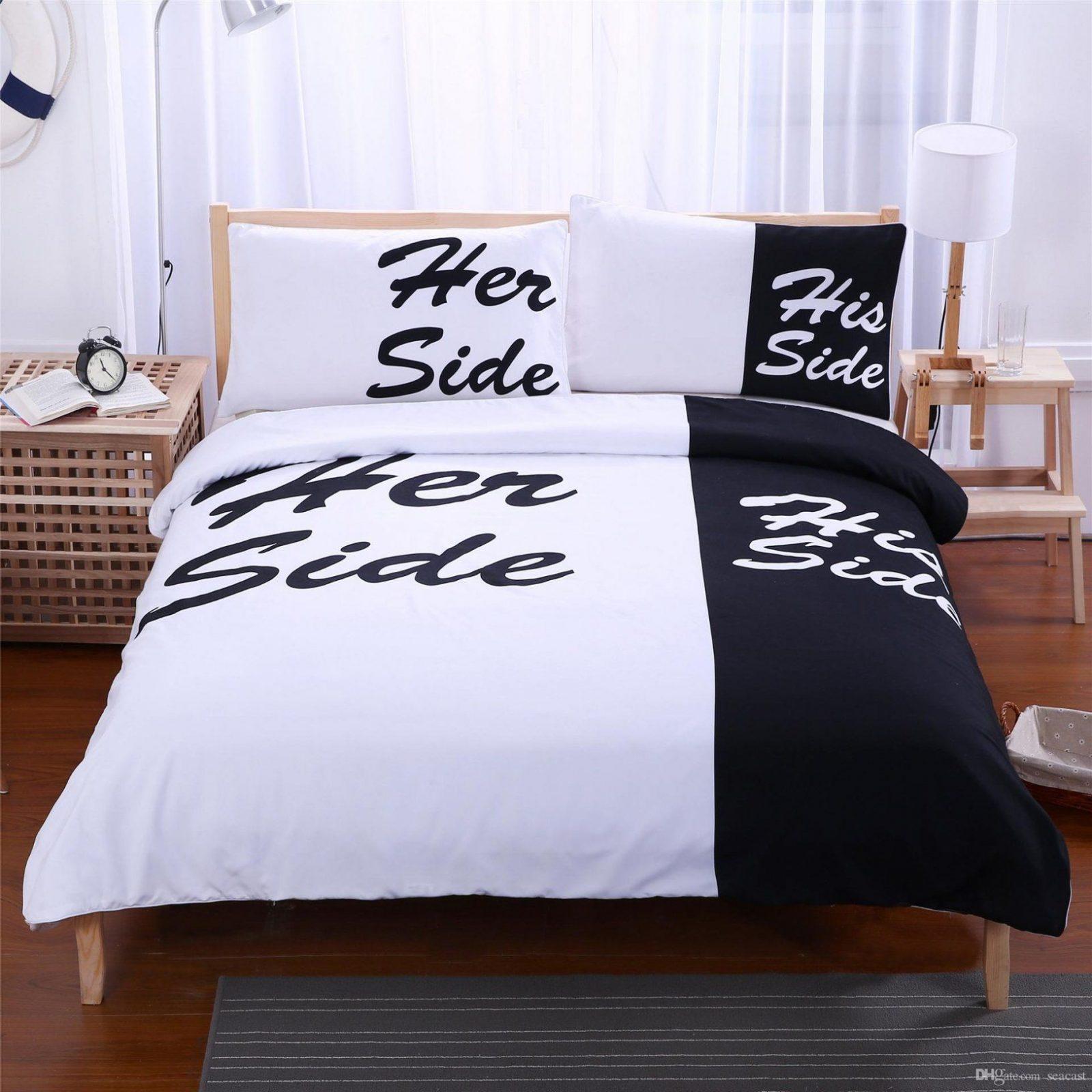 Her Side His Side Bedding Sets Twinfullqueenking Size Couple von Her Side His Side Bettwäsche Bild