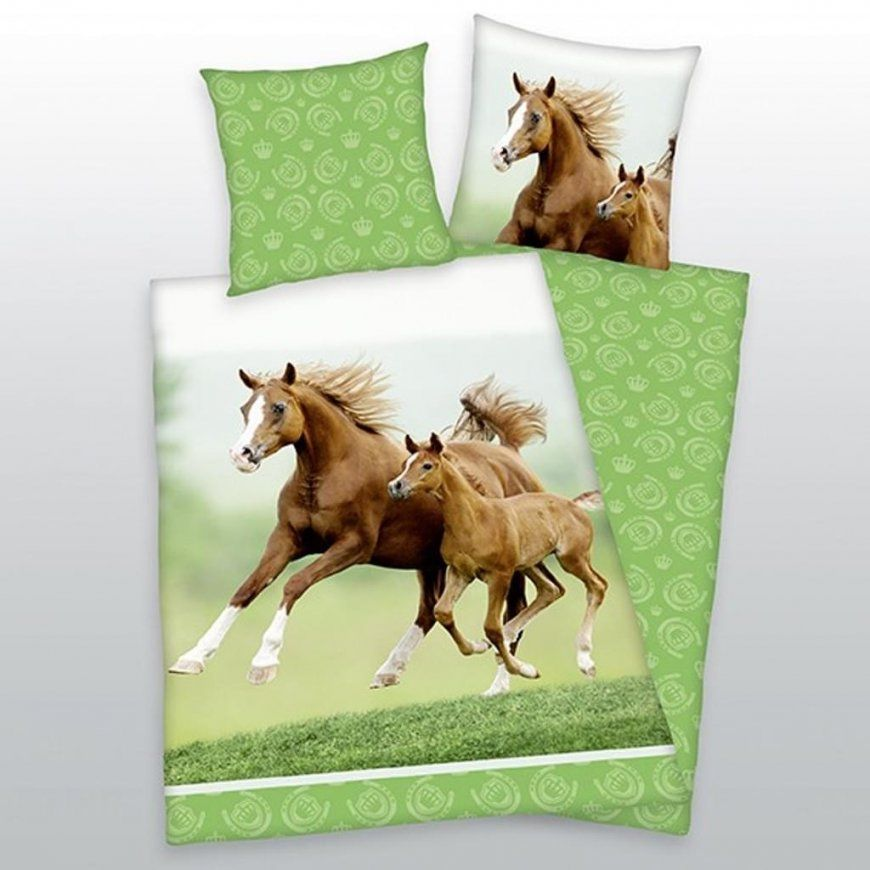 Herding Bettwäsche Pferd Mit Fohlen 135 X 200 Cm  Real von Pferde Bettwäsche Baumwolle Bild