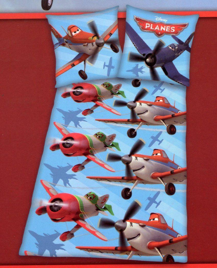 Herding Bettwäsche Planes  Blau  135 X 200 Cm + 80 X 80 Cm  100 von Planes Bettwäsche 100X135 Photo