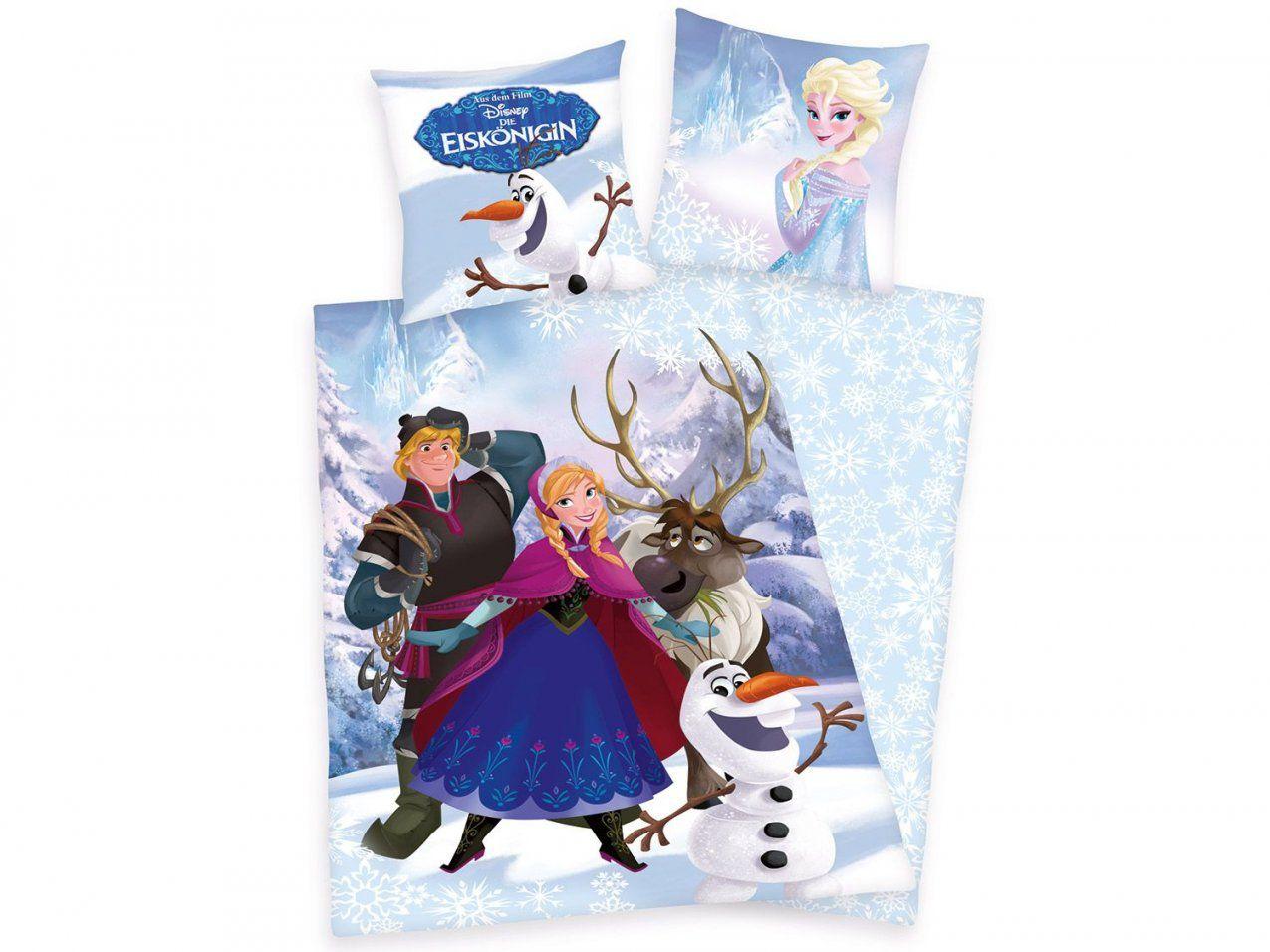 Herding Disney´s Die Eiskönigin Renforcéwendebettwäsche Motiv von Frozen Bettwäsche Aldi Bild