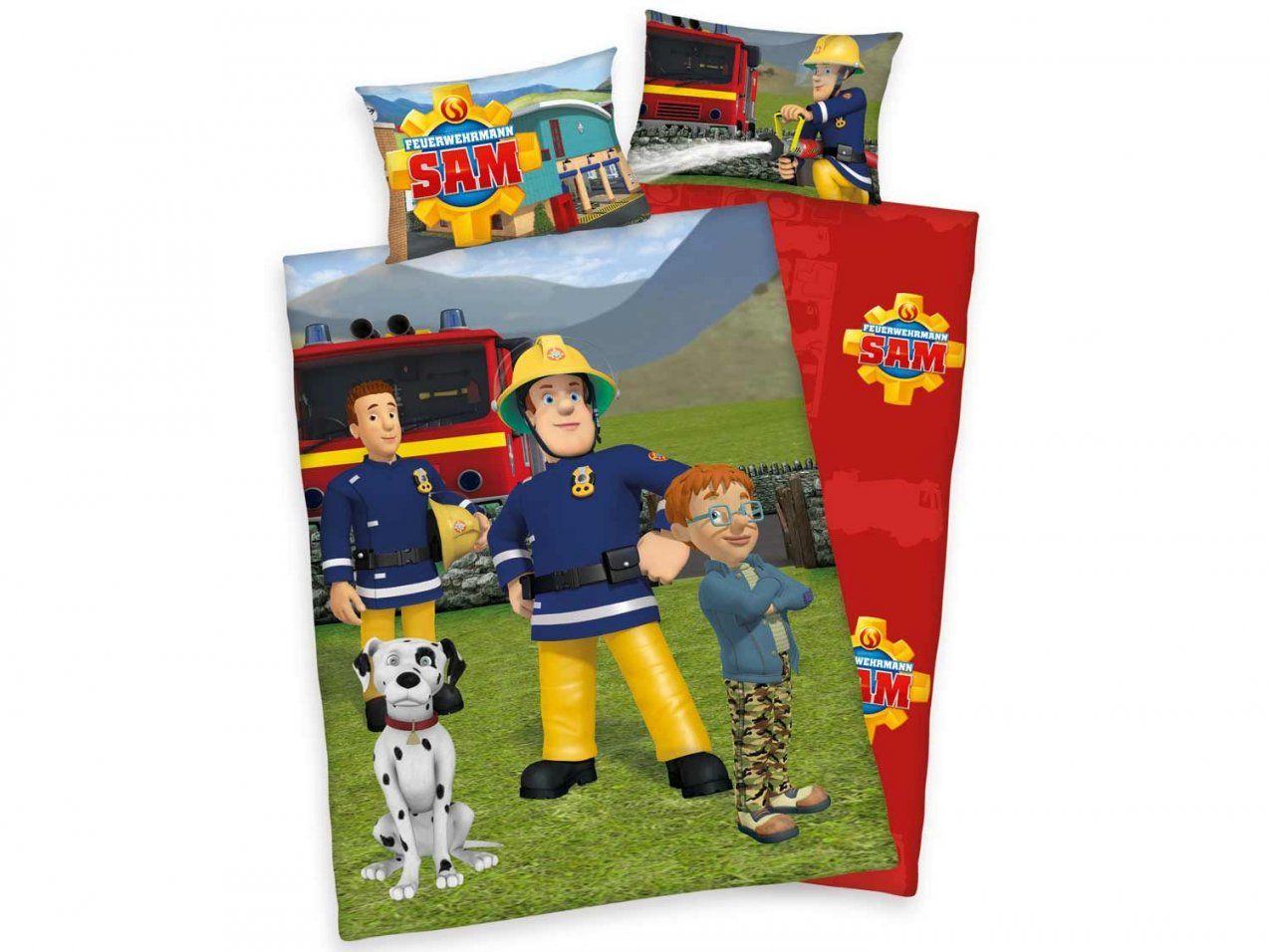 Herding Feuerwehrmann Sam Baby  Kleinkinder Renforcé von Bettwäsche Feuerwehrmann Aldi Bild