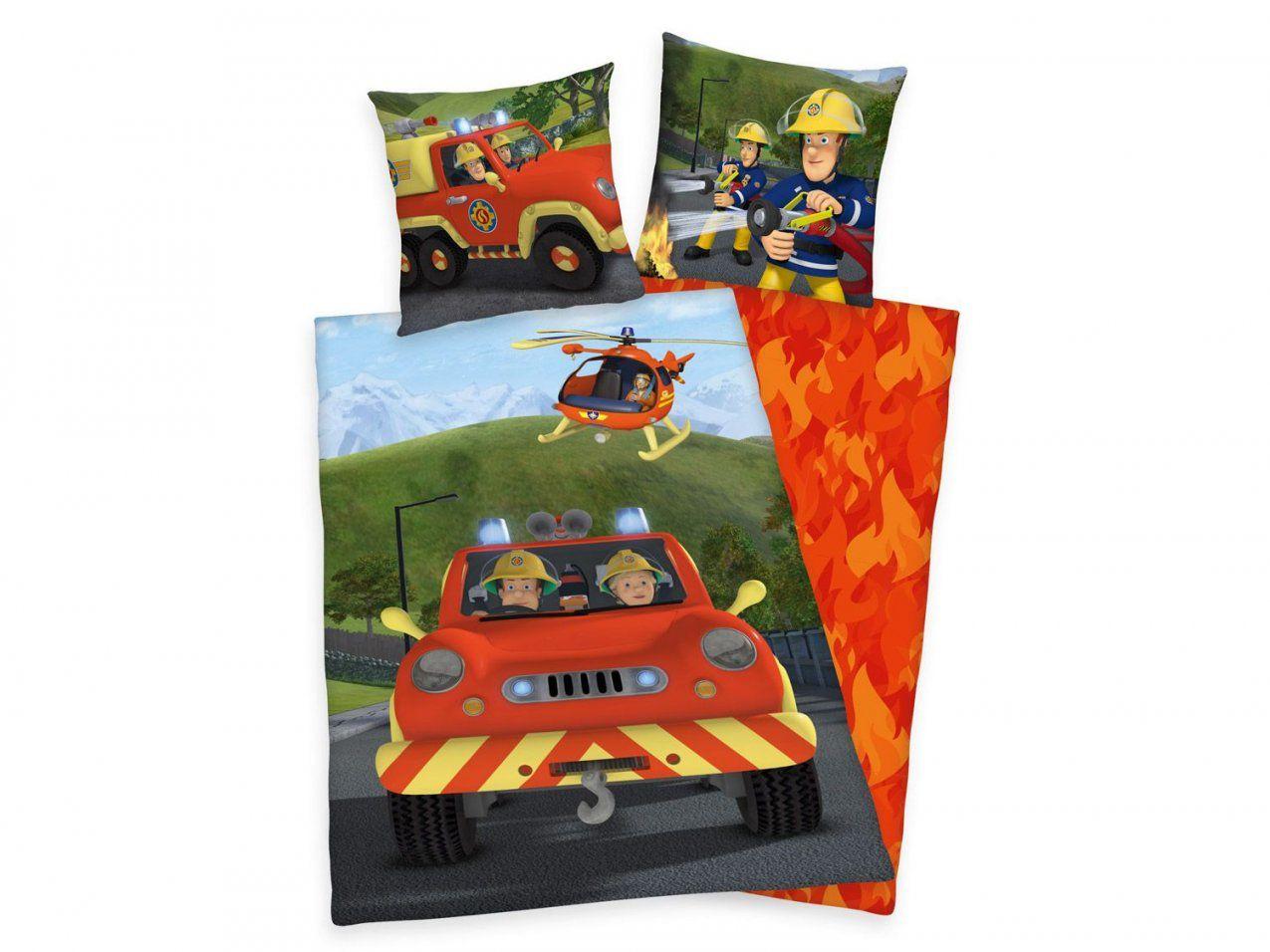 Herding Flanellbettwäsche Feuerwehrmann Sam 135 X 200 Cm  Lidl von Cars Bettwäsche Lidl Bild