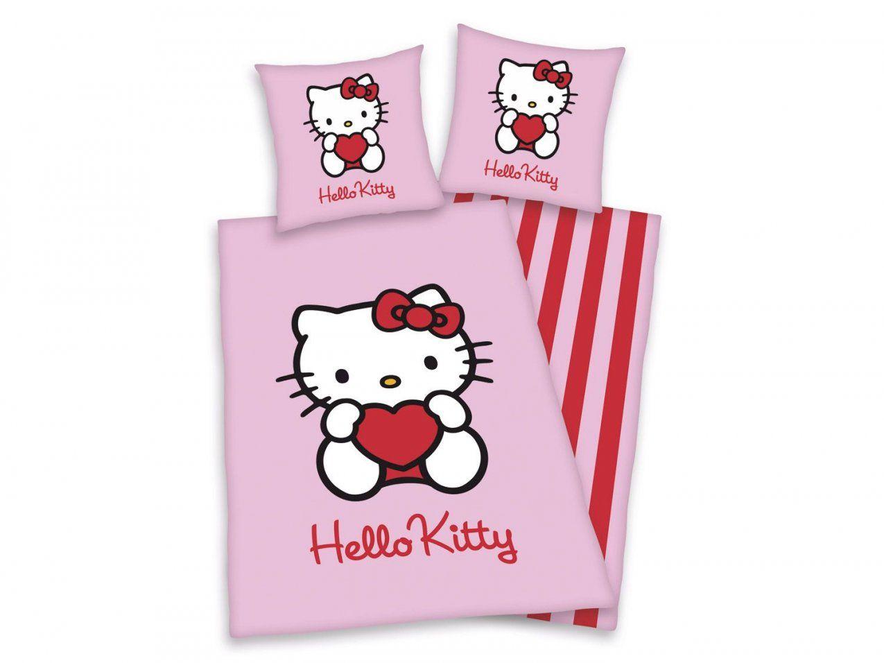 Herding Flanellwendebettwäsche Hello Kitty Herz 135 X 200 Cm von Hello Kitty Bettwäsche Lidl Photo
