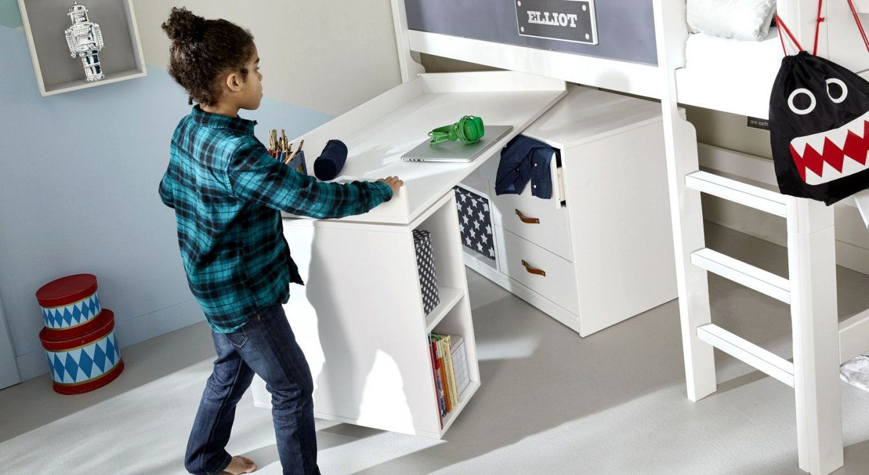Herrliche Ideen Platzsparender Schreibtisch Und Schöne Drehbarer von Schreibtisch Für Kleines Kinderzimmer Bild