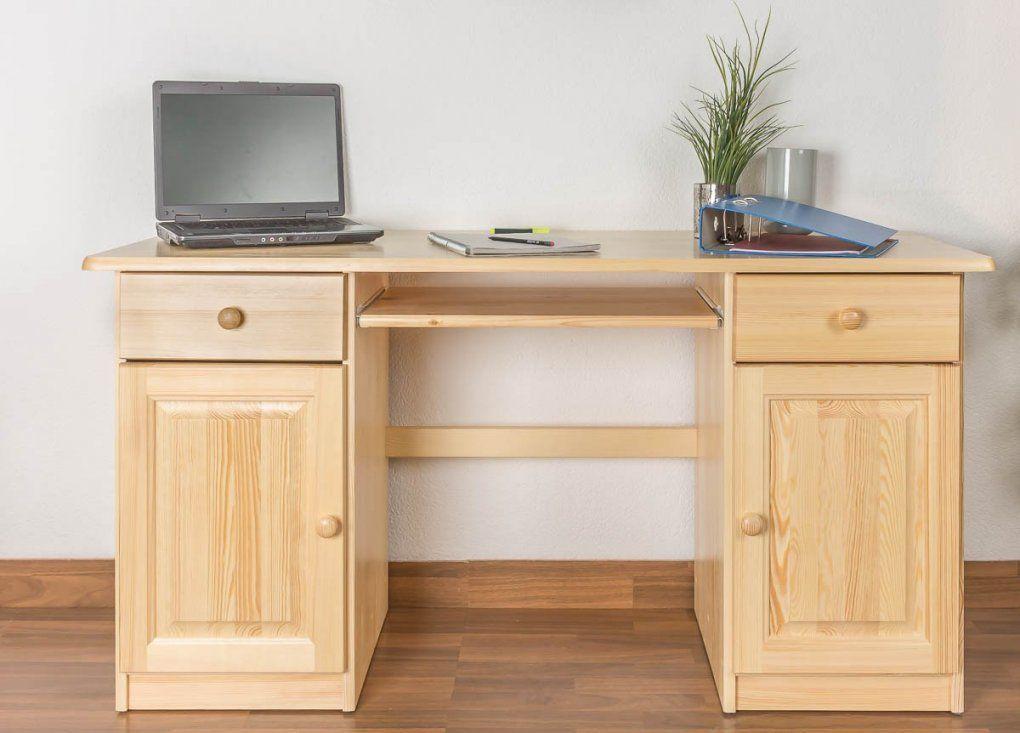Hervorragend Schreibtisch Kiefernholz Beeindruckend Kiefer Massiv