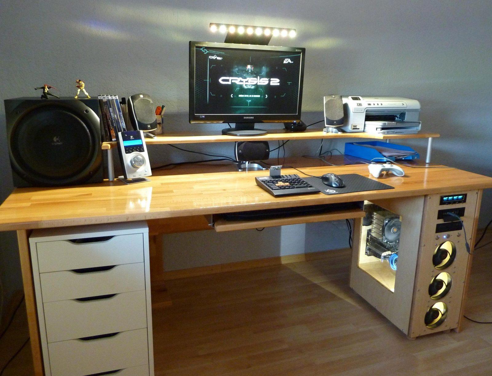 Hervorragend Schreibtisch Selbst Bauen Gaming Tisch Pc Zocker Avec von Computer Schreibtisch Selber Bauen Photo