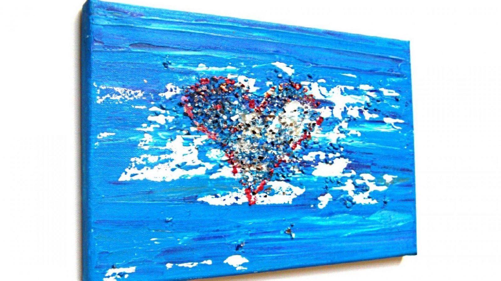 Herz Acryl Malen Für Anfänger (Heart Acrylic Painting For von Acrylbilder Selber Malen Für Anfänger Bild