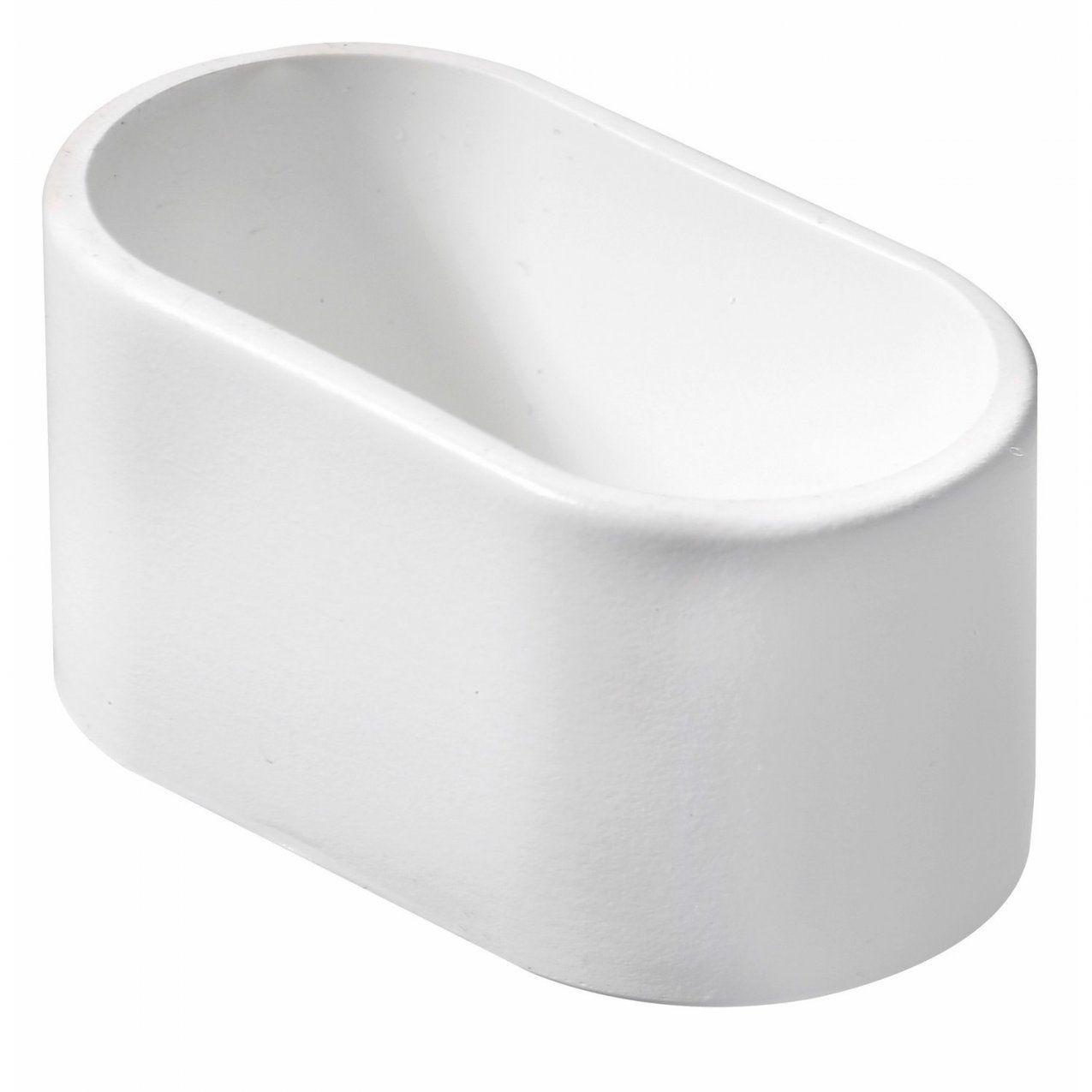 Hettich Fußkappe Für Ovale Rohre 38 Mm X 20 Mm Weiß Kaufen Bei Obi von Fußkappen Für Gartenstühle Oval Bild