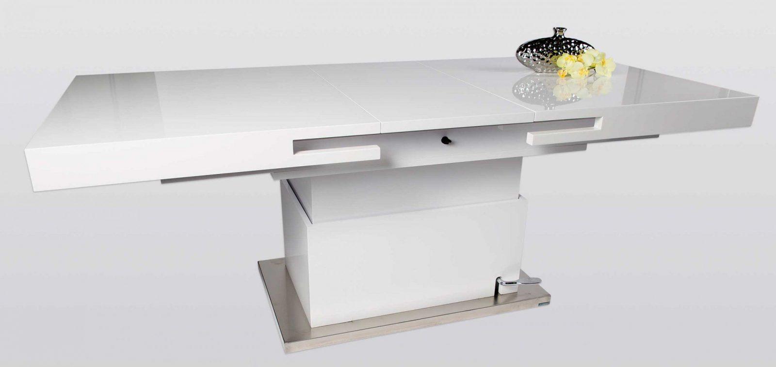 Hl Design Lennox Weißer Couchtisch Höhenverstellbar Ausziehbar von Couchtisch Höhenverstellbar Ausziehbar Glas Bild