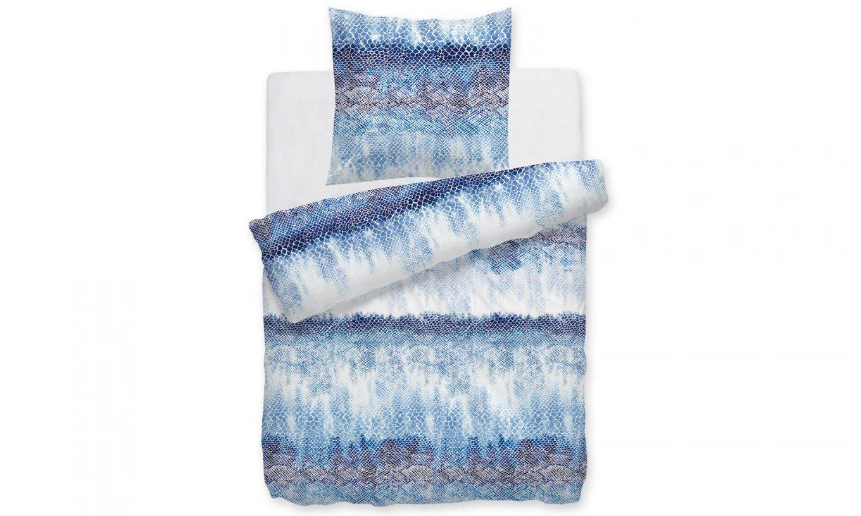 Hnl Living Fedde Makosatinbettwäsche Blau  Perfektschlafen von Satin Bettwäsche Blau Bild