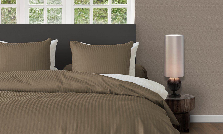 Hnl Living Uni Stripe Makosatin Bettwäsche Gold  Perfektschlafen von Winter Bettwäsche 200X200 Bild