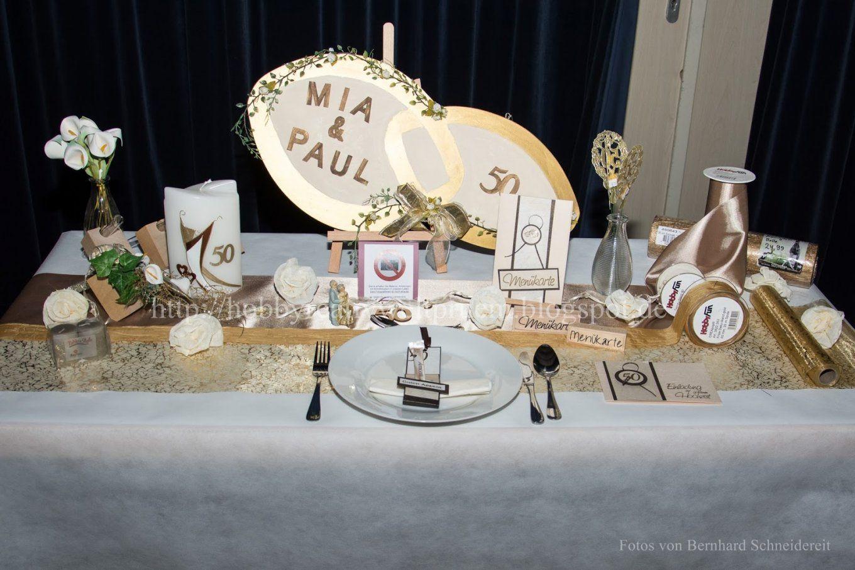 Hobby Kreativ Welt Tischdekoration Goldene Hochzeit von Tischdeko Für Goldene Hochzeit Bild