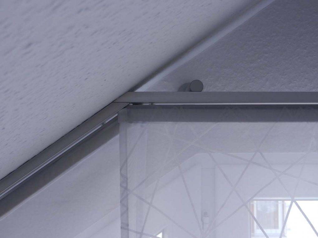 Hobbyhandwerkinserat Flächenvorhang Für Dachschräge Und Schräge von Schiebegardinen Für Schräge Fenster Bild