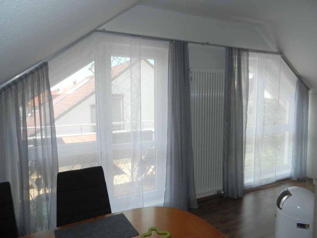 Hobbyhandwerkinserat Flächenvorhang Für Dachschräge Und Schräge von Vorhang Für Schräge Fenster Bild