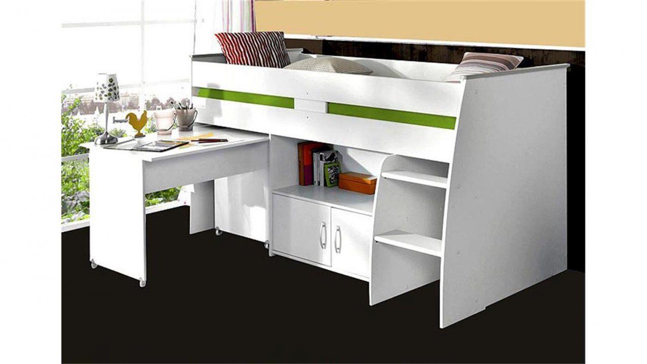 Hochbett Reverse Weiß Mit Schreibtisch Leiter Und Kommode von Hochbett Weiß Mit Schreibtisch Bild
