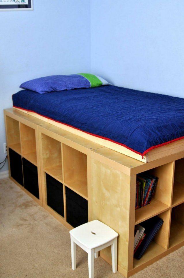 Hochbett Selber Bauen Mit Ikea Möbeln  Betten Mit Stauraum von Bett Mit Stufen Selber Bauen Bild