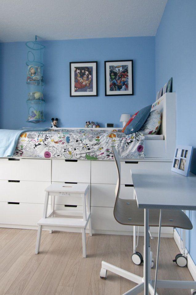 Hochbett Selber Bauen Mit Ikea Möbeln  Betten Mit Stauraum von Hochbett Selber Bauen Ideen Bild